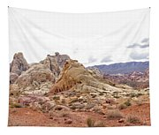 White Domes Panorama Tapestry
