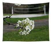 White Florescence Tapestry