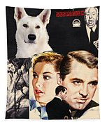 White German Shepherd Art Canvas Print - Suspicion Movie Poster Tapestry