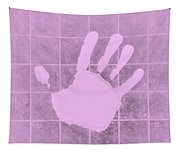 White Hand Pink Tapestry