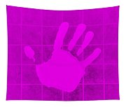 White Hand Purple Tapestry
