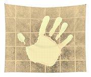 White Hand Sepia Tapestry