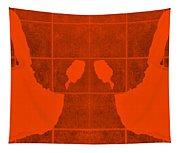White Hands Orange Tapestry