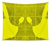 White Hands Yellow Tapestry