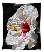 White Hibiscus Tapestry