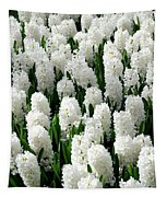 White Hyacinths Tapestry