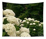 White Hydrangeas Tapestry