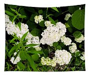 White Hydrangia Beauty Tapestry