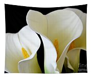 White Lily Trio Tapestry