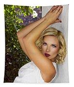 White Linen Palm Springs Tapestry