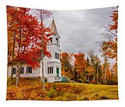 White New Hampshire Church Tapestry