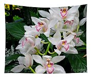 White Orchid In Full Bloom Tapestry