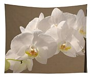 White Orchid Photograph Tapestry