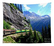 White Pass And Yukon Route Railway In Canada Tapestry