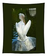 White Pelican Back Tapestry