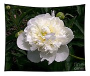 White Peony Watercolor Effect Tapestry