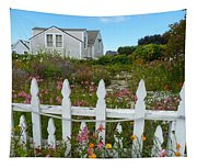 White Picket Fence In Mendocino Tapestry
