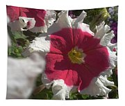 White-red Petunia Tapestry