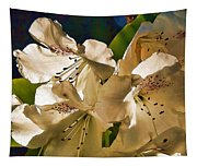 White Rhododendron Tapestry