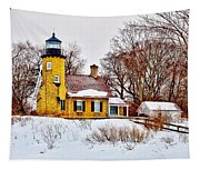 White River Winter Panoramic Tapestry