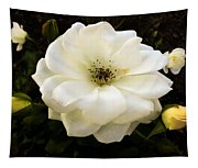 White Rose With Buds Tapestry