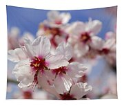 White Spring Almond Flowers Tapestry