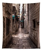 White Streets Of Dubrovnik No5 Tapestry