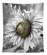 White Sunflower Tapestry