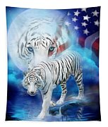 White Tiger Moon - Patriotic Tapestry
