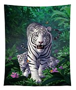 White Tigers Tapestry