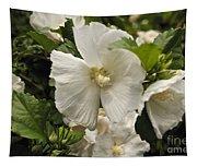White Tree Flower Tapestry