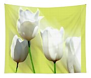 White Tulips Tapestry