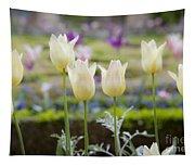 White Tulips In Parisian Garden Tapestry