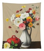 White Vase And Red Box Tapestry