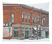 Whitehouse Ohio In Snow 7032 Tapestry