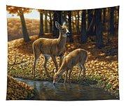 Whitetail Deer - Autumn Innocence 1 Tapestry