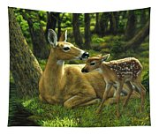 Whitetail Deer - First Spring Tapestry