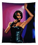 Whitney Houston On Stage Tapestry