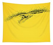 Whooper Swan Yellow Abstract Tapestry