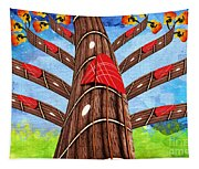 Why Pick On Me Guitar Abstract Tree Tapestry