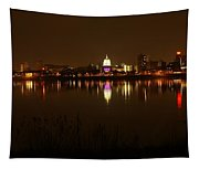 Wide Shot Of The City Skyline Tapestry