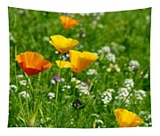 Poppies 3 - Wild At Heart Tapestry