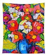 Wild Colorful Flowers Tapestry