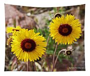 Wild Flowers Above The Rim Tapestry