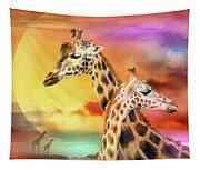 Wild Generations - Giraffes  Tapestry