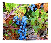 Wild Grapes Tapestry