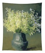 Wild Lilacs And Forget Me Nots Tapestry