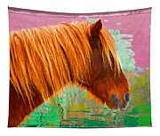 Wild Pony Abstract Tapestry