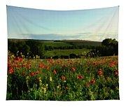 Wild Poppies Growing In A Field, Wylye Tapestry