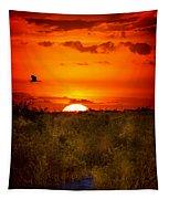 Wild Sunset Tapestry